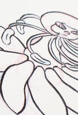 """Bloodroot"" Inktober original drawing. Vixtopher"