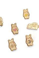 """Sophie Quillec """"Bear: Heart"""" pin by Sophie Quillec"""