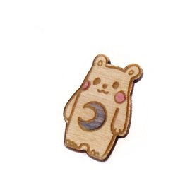 "Sophie Quillec ""Bear: Moon"" pin by Sophie Quillec"