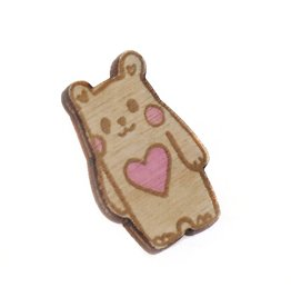 "Sophie Quillec ""Bear: Heart"" pin by Sophie Quillec"