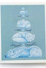Megan Rivera Winter Animal Card by Megan Rivera