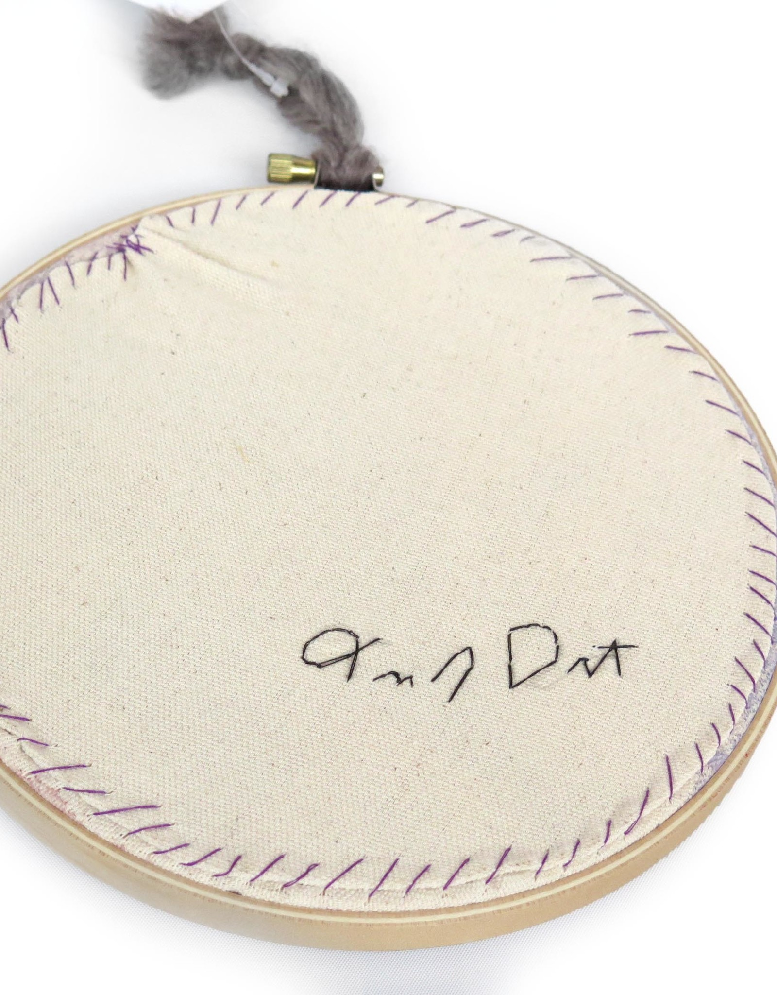 """Handcrafted by Tracey Jean 7"""" Hoop Art by Tracey Jean"""