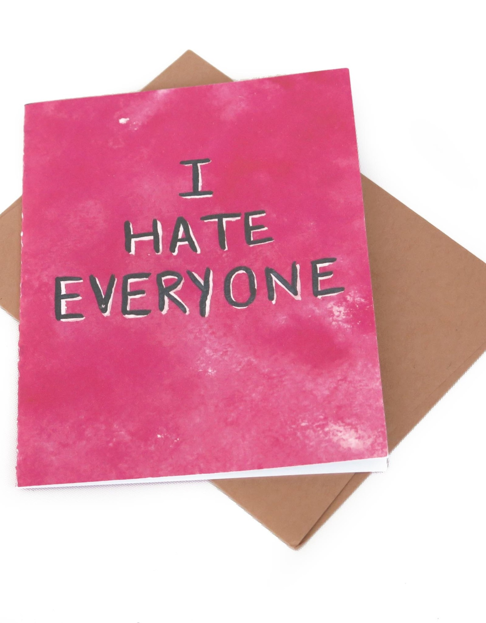 """Hate Everyone..."" - Single Greeting Card Greeting Card, Vixtopher"