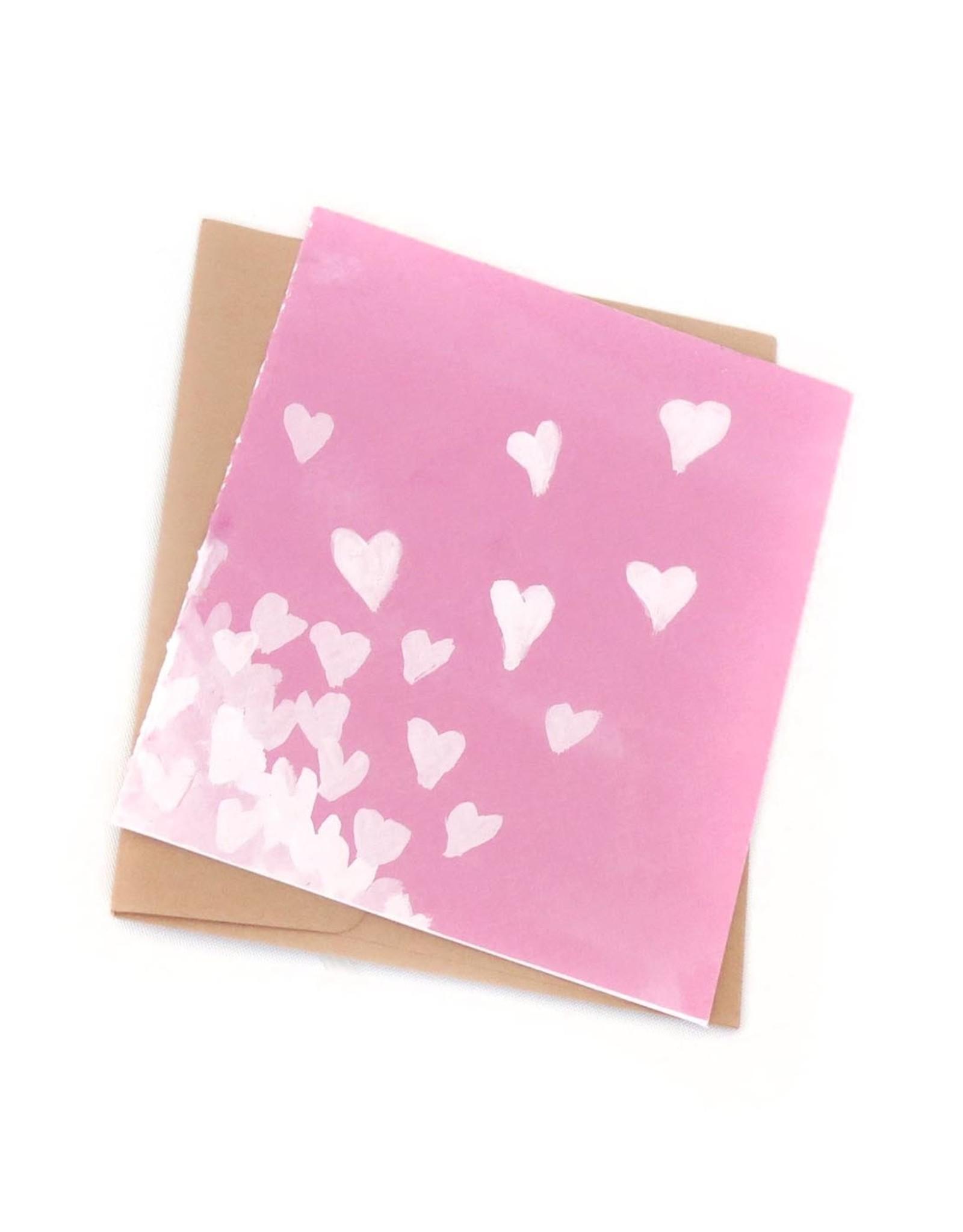 """Hearts"" - Single Greeting Card Greeting Card, Vixtopher"