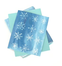 """Snowflake"" Single Greeting Card, Vixtopher"