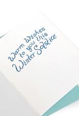 """Snowflake"" Single Greeting Card, Vixtopher"