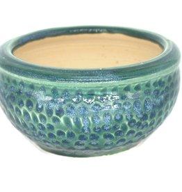 Sea green ceramic plant pot by Ronda Ruby Ceramics