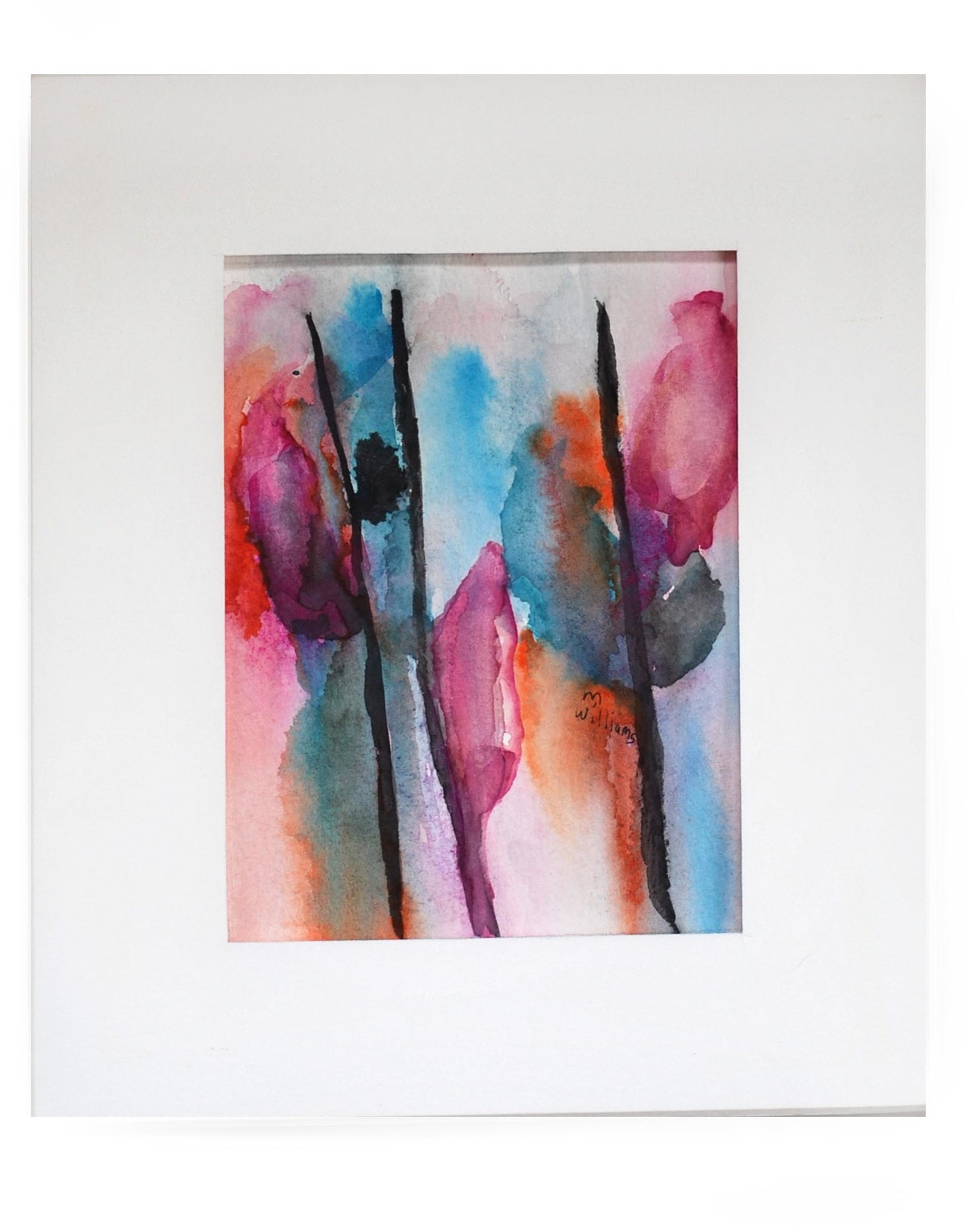 """""""flowers"""" original watercolor 8x10 Matted by Michele Williams"""