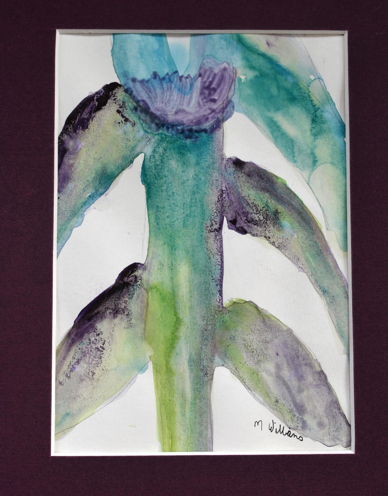 """""""flower"""" original watercolor 8x10 Matted by Michele Williams"""