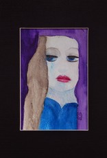 """""""lady"""" original watercolor 8x10 Matted by Michele Williams"""