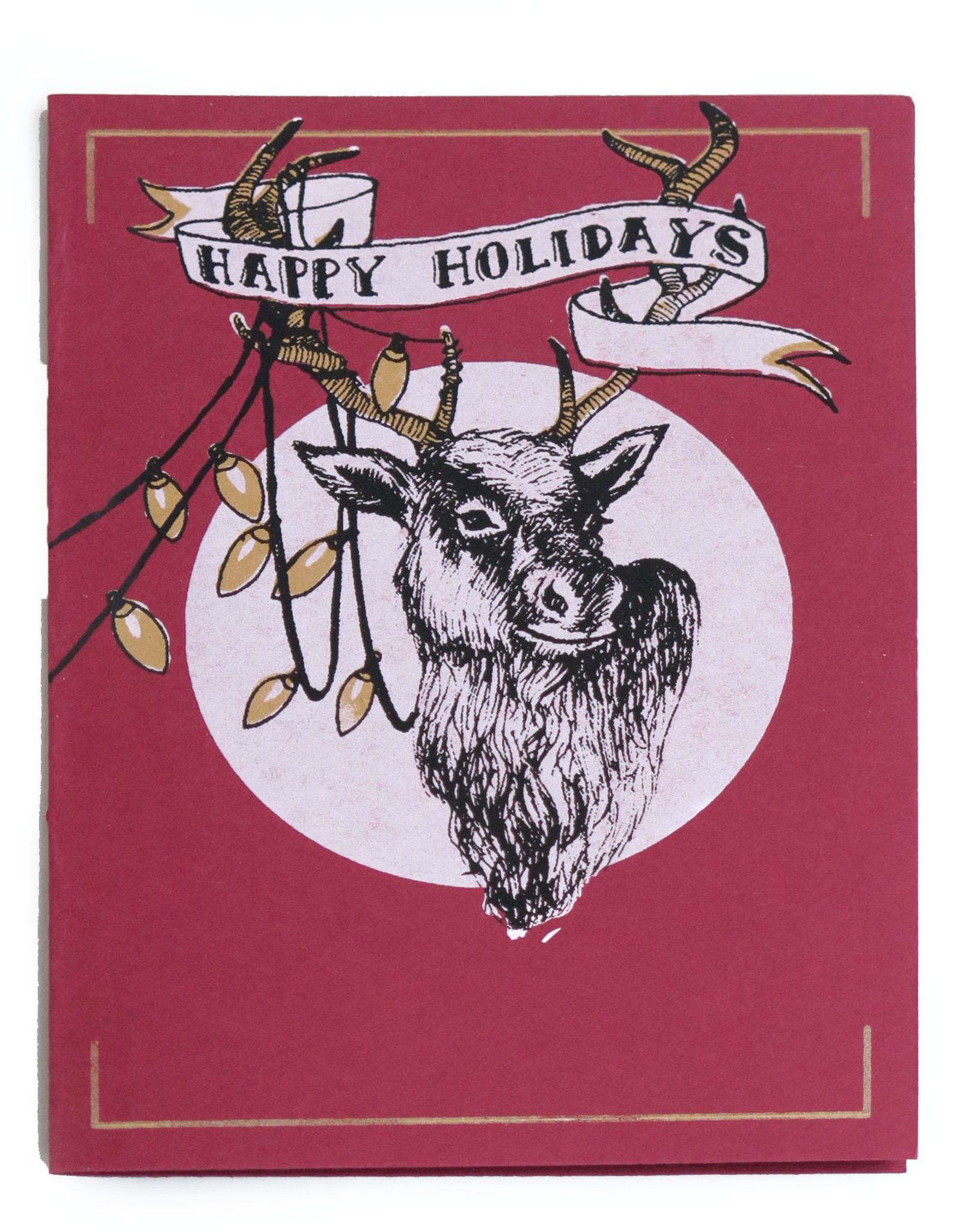 Tangled Deer Holiday Card (screenprint), Lily Cozzens