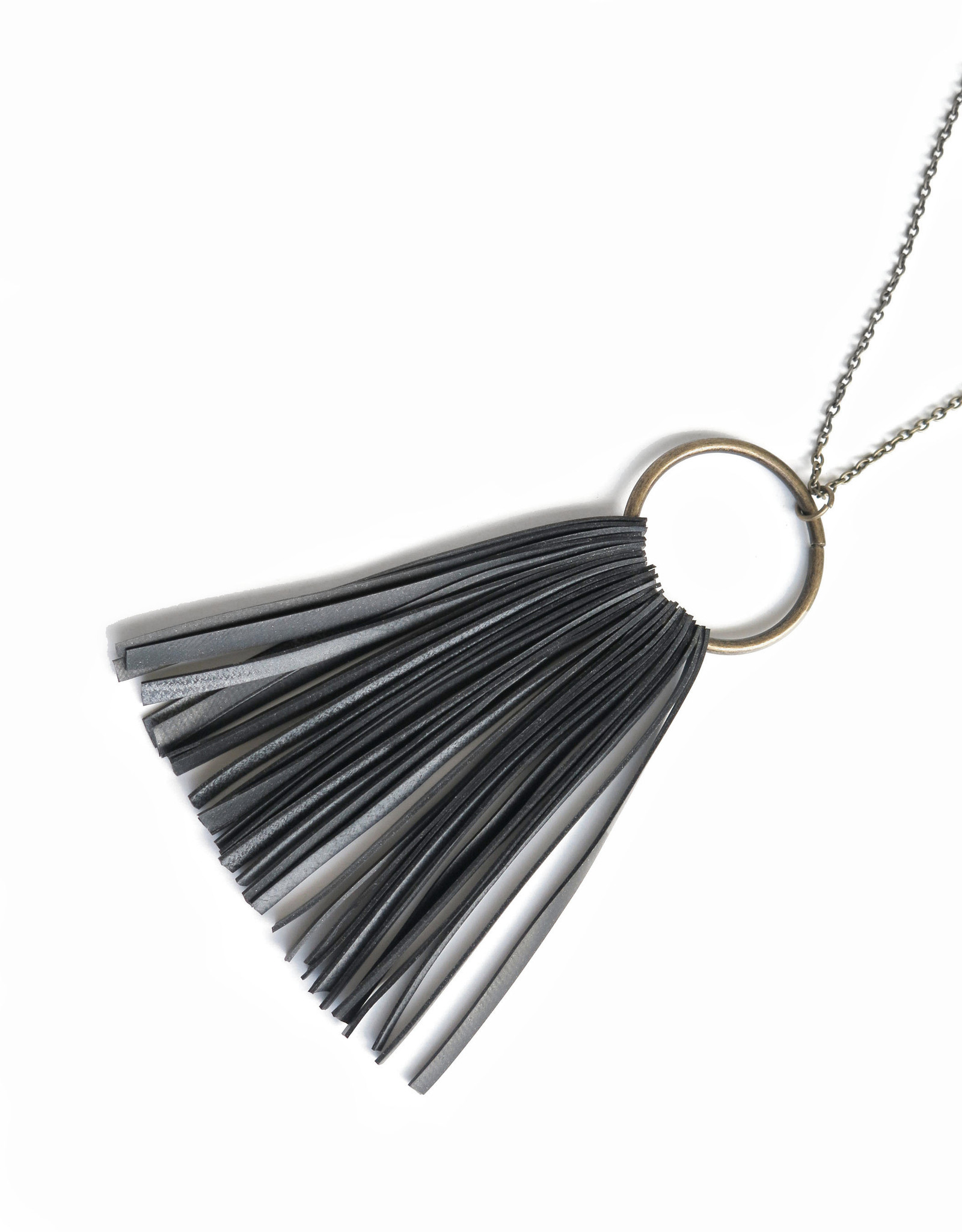 True Partners in Craft Circle Fringe Necklace by True Partners in Craft