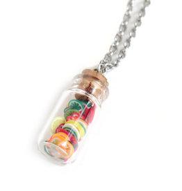 Peppermint Emporium Glass Vial of Fruit Slices Necklace by Peppermint Emporium