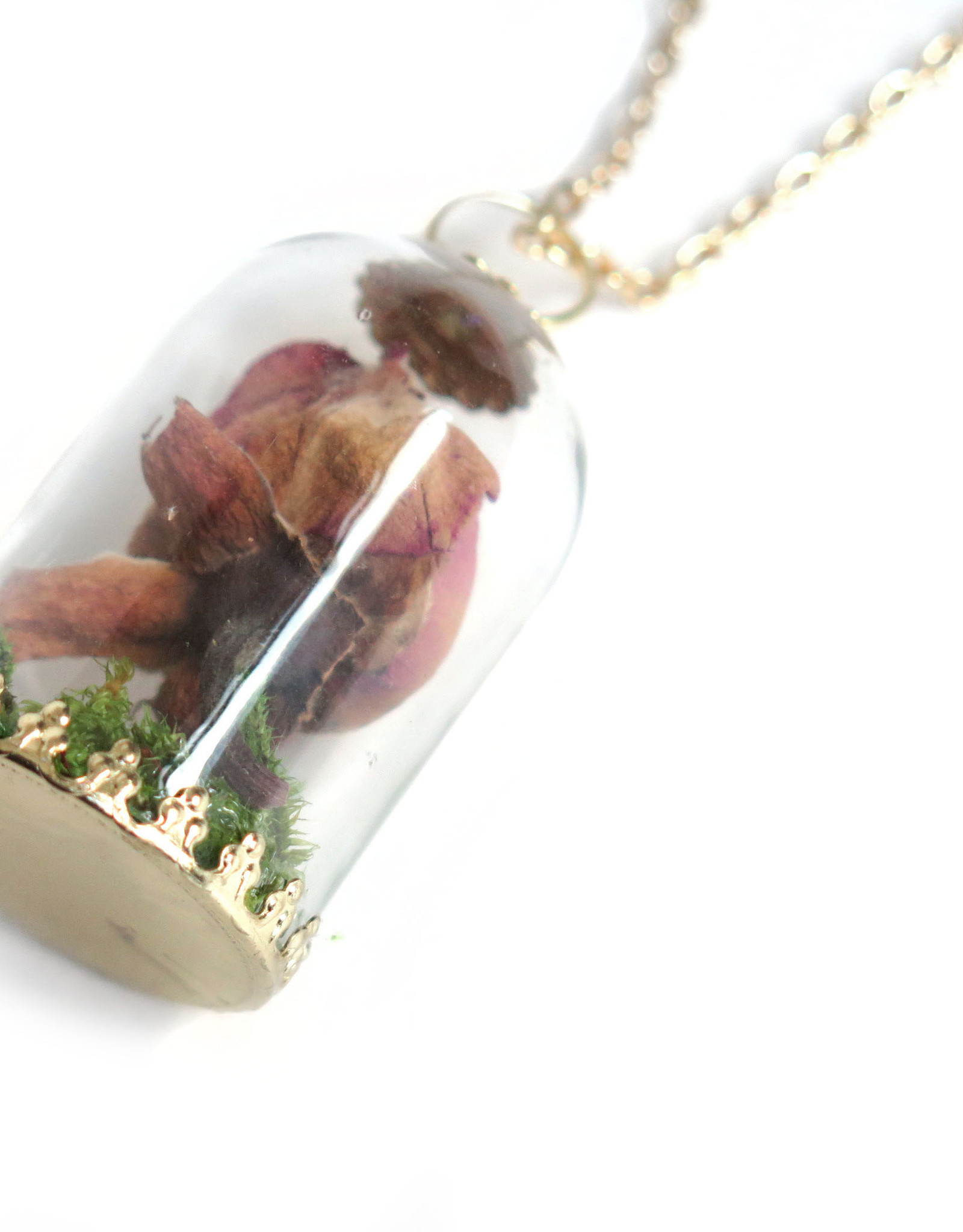 Peppermint Emporium Dried Rose Necklace by Peppermint Emporium