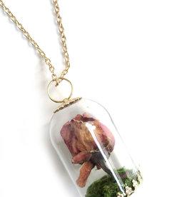 Peppermint Emporium Dried Rose Necklace by Peppermint Emporium