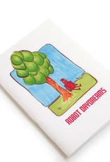 """Robot Daydreams"" (tree)  Blank Notebook, Vixtopher"