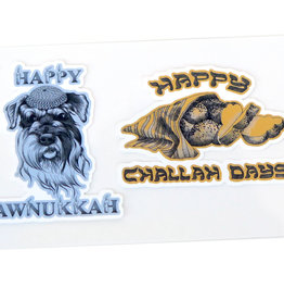 Hanukkah Sticker 2-Pack by Scott Dickens, All4Pun