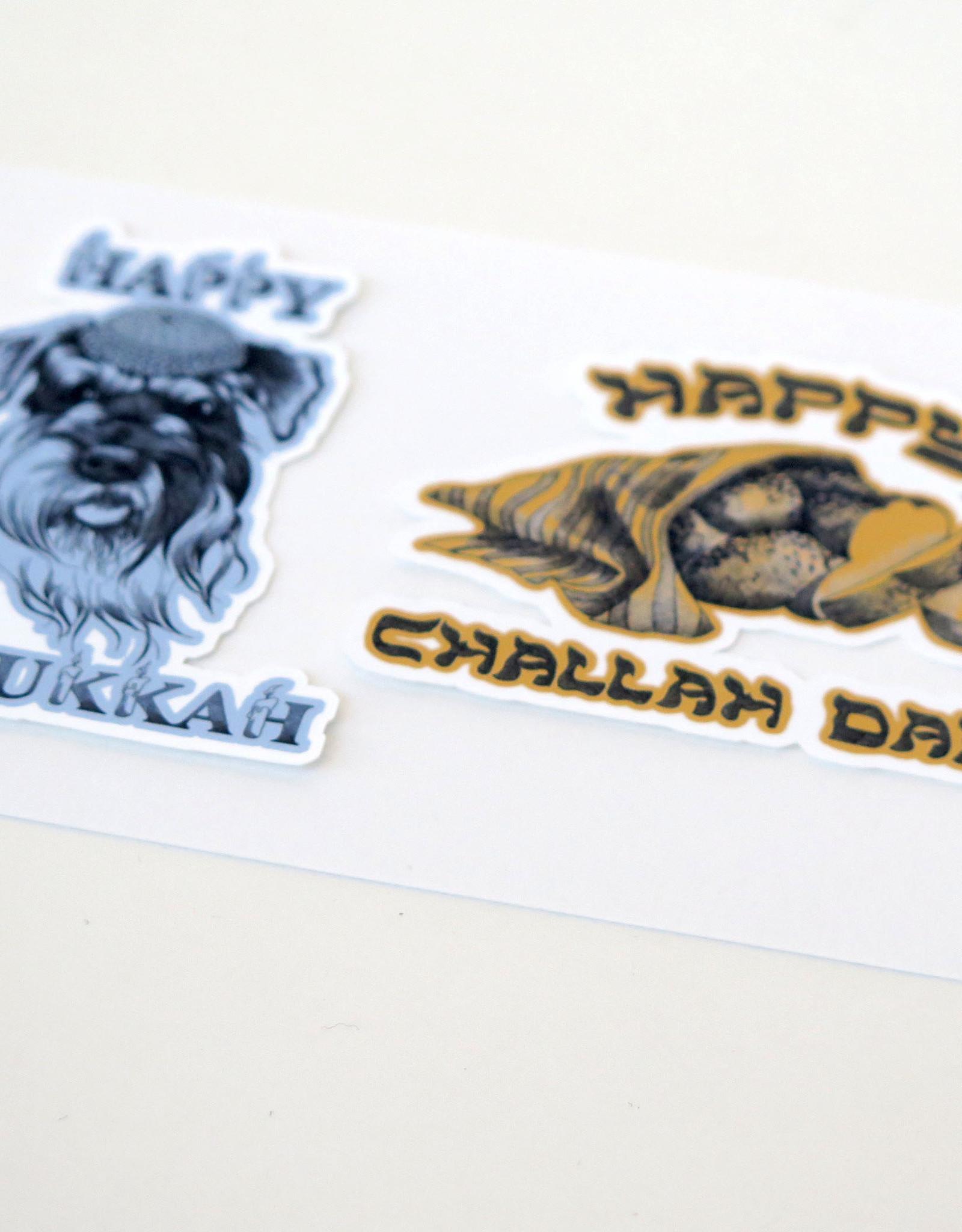 Hanukkah Sticker 2-Pack by Scott Dickens, All4Pun