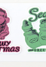 Christmas Sticker 2-Pack by Scott Dickens, All4Pun