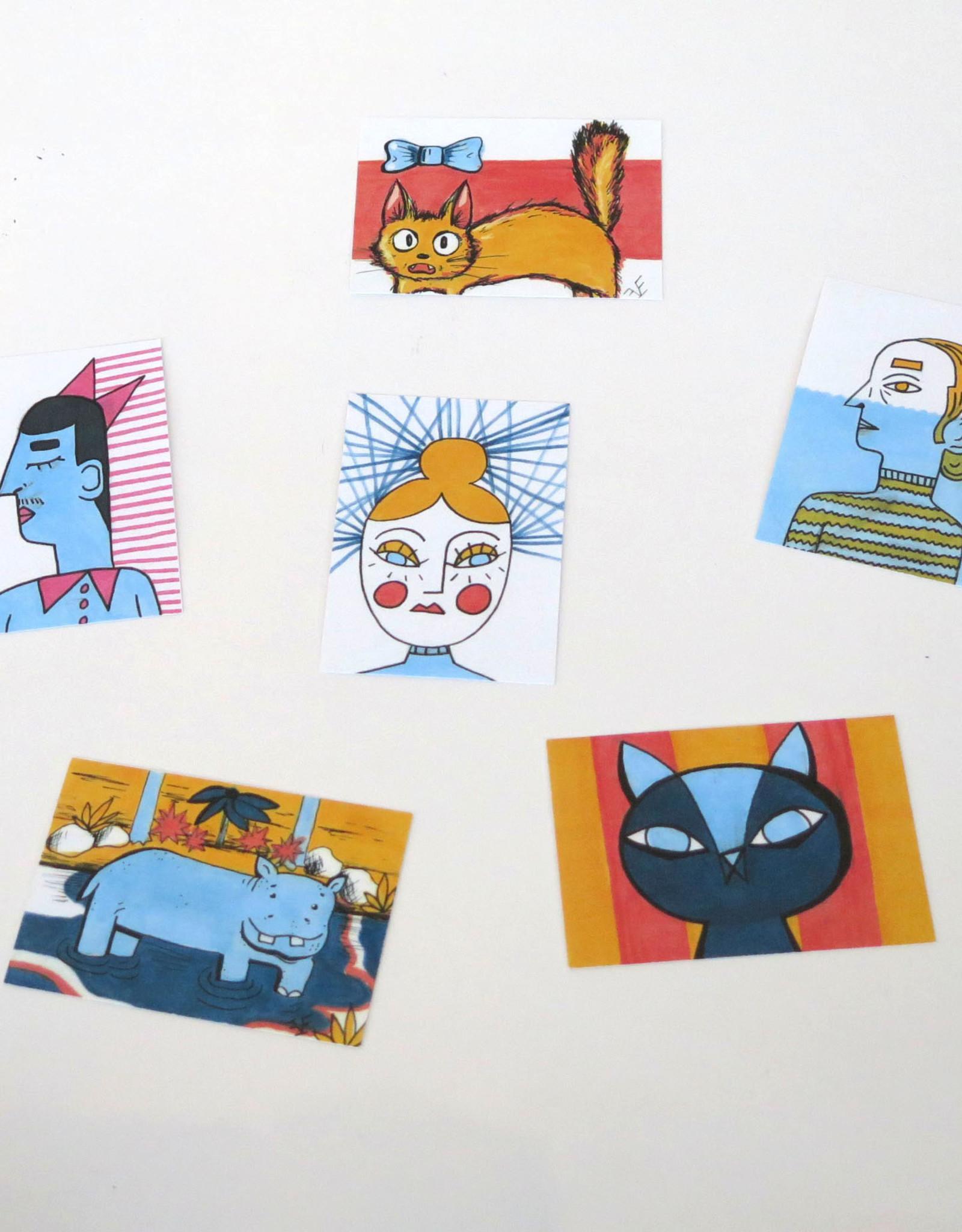 "Eve Senderhauf ""Hippo"" Small Art Card by Eve Senderhauf"