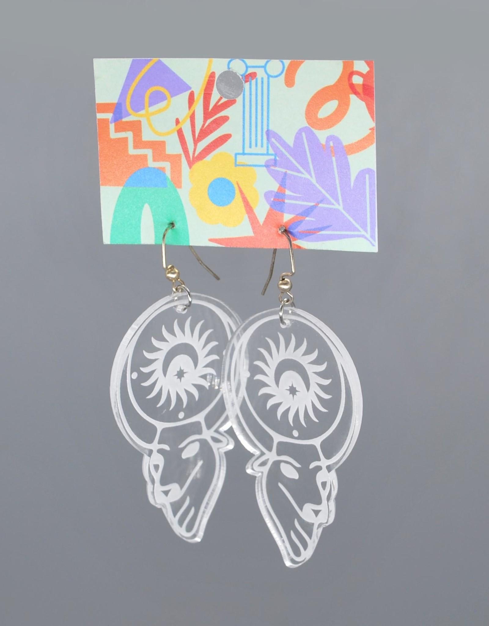 Kirsten Beard Apis Acrylic Earrings by Kirsten Beard