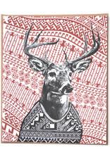 Deer Holiday Greeting Card by Hale Ekinci