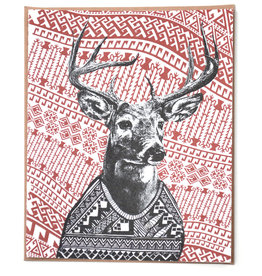 Deer Holiday Greeting Card by Hale Ekinci