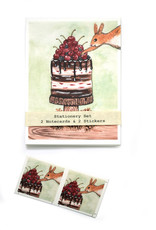 Melissa Rohr Gindling Holiday Squirrel Stationery Set by Melissa Rohr Gindling