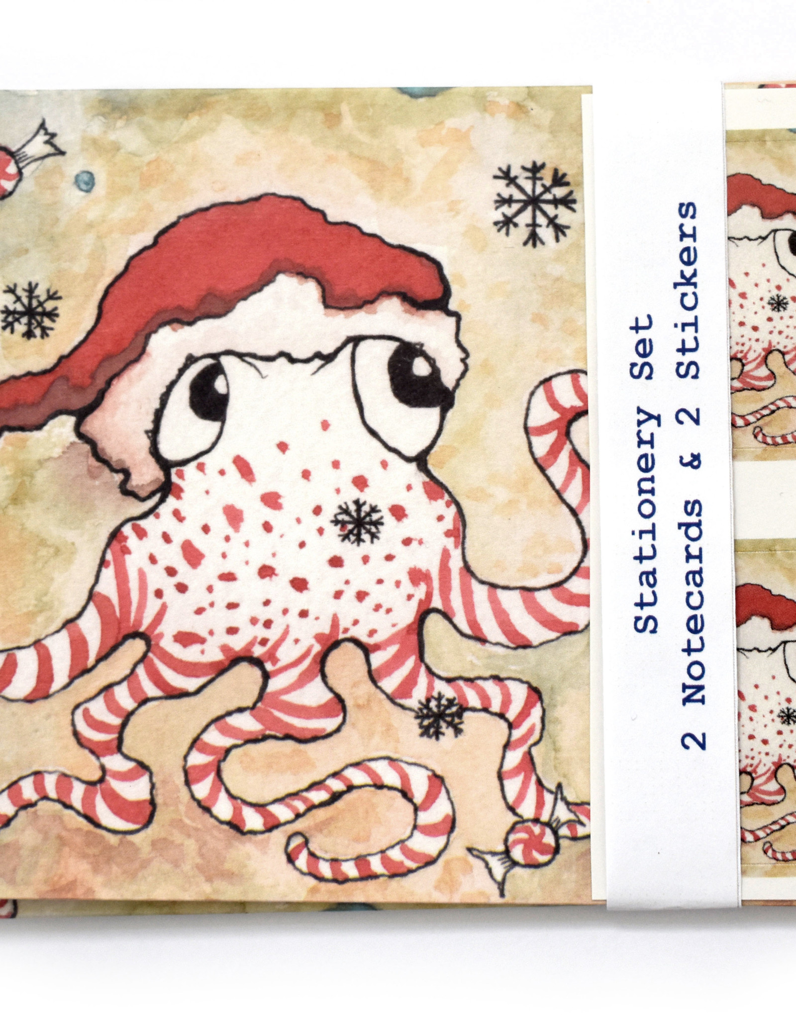 Melissa Rohr Gindling Holiday Octopus Stationery Set by Melissa Rohr Gindling