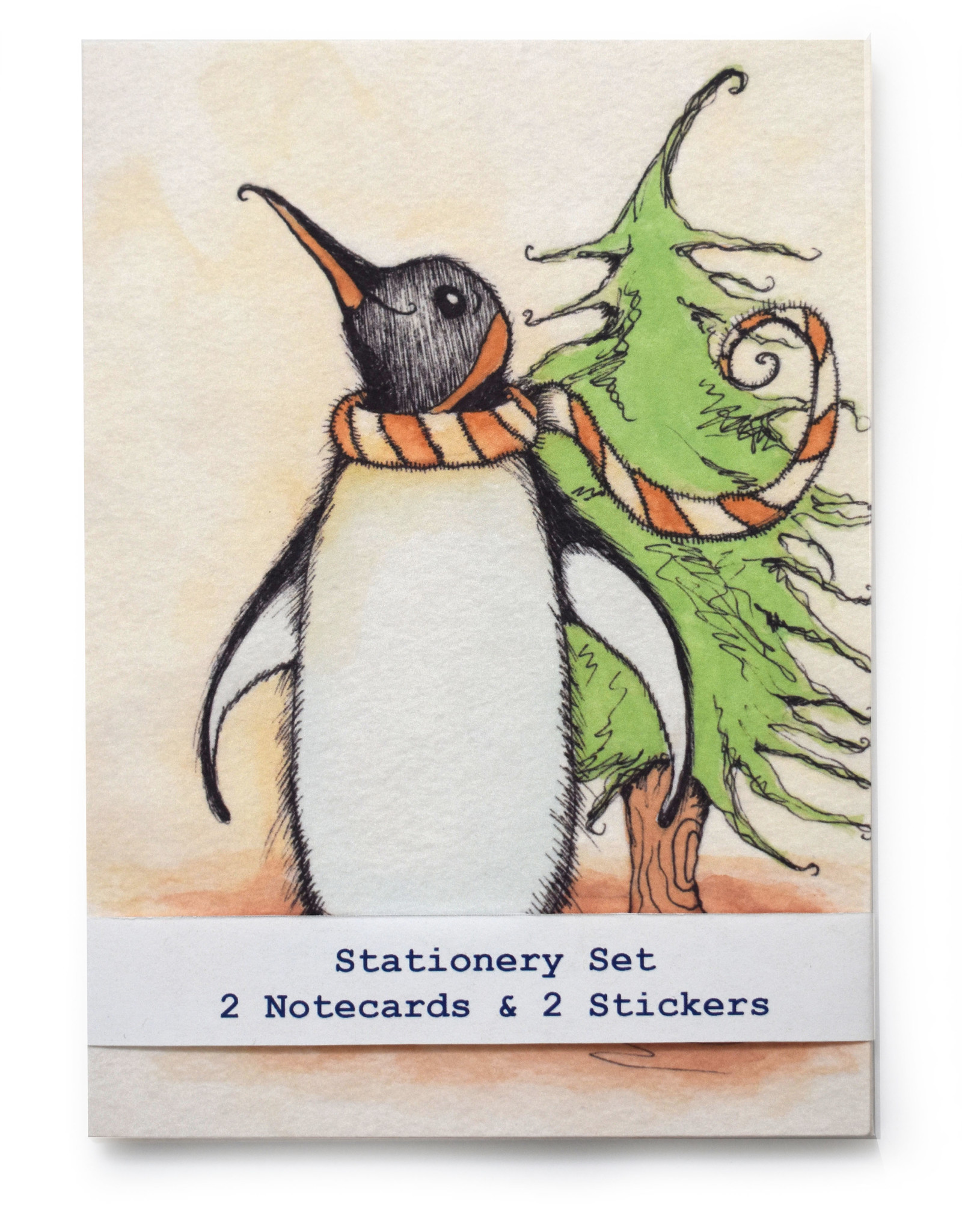 Melissa Rohr Gindling Penguin Stationery Set by Melissa Rohr Gindling