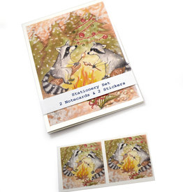 Melissa Rohr Gindling Raccoon Stationery Set by Melissa Rohr Gindling