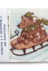 Melissa Rohr Gindling Holiday Bear Stationery Set by Melissa Rohr Gindling