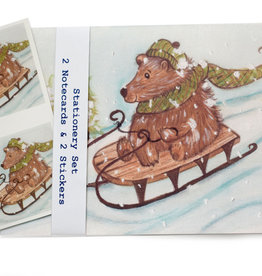 Melissa Rohr Gindling Holiday Bear Stationery Set by Melissa Rohr Gindling