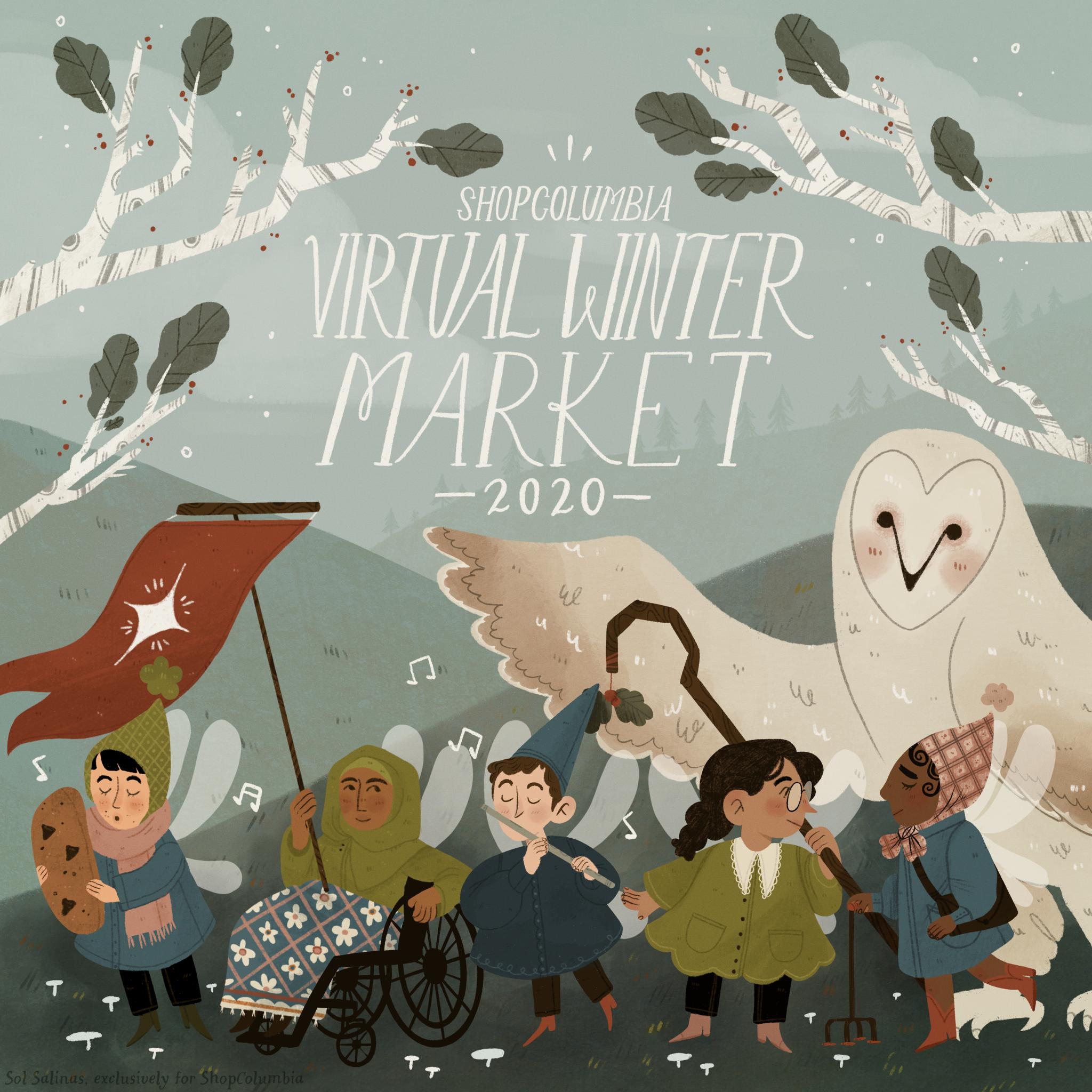 Holiday Market Illustrator: Sol Salinas
