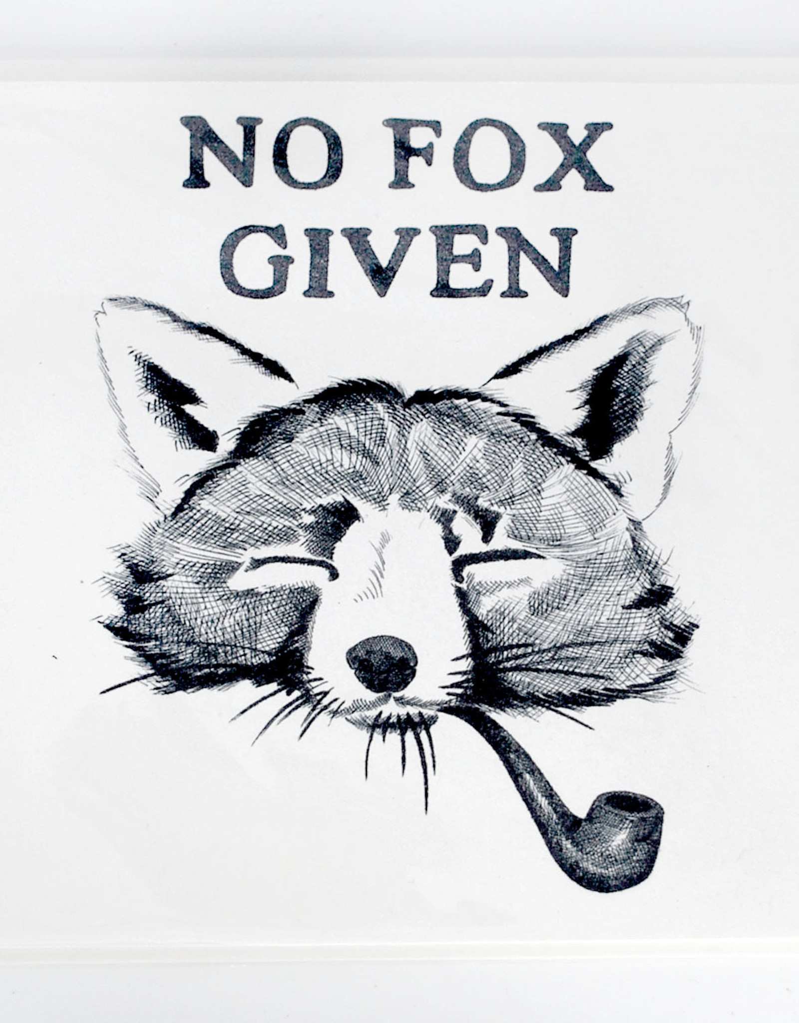 """""""No Fox Given""""  Birthday Card  by Scott Dickens, All4Pun"""