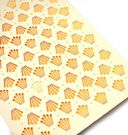 "Knot Thinkers Gold ""Shell"" Laser Cut Greeting Card by Knot Thinkers"