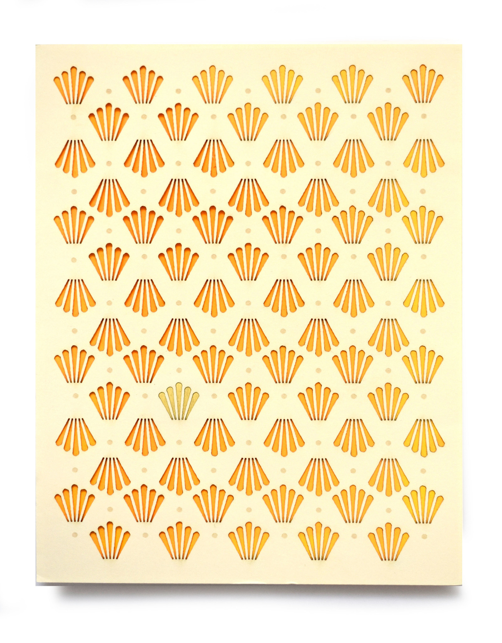 """Knot Thinkers Gold """"Shell"""" Laser Cut Greeting Card by Knot Thinkers"""