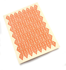 "Knot Thinkers Orange ""Diamond"" Laser Cut Greeting Card by Knot Thinkers"