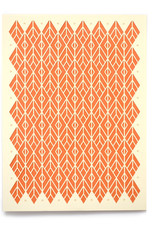 """Knot Thinkers Orange """"Diamond"""" Laser Cut Greeting Card by Knot Thinkers"""