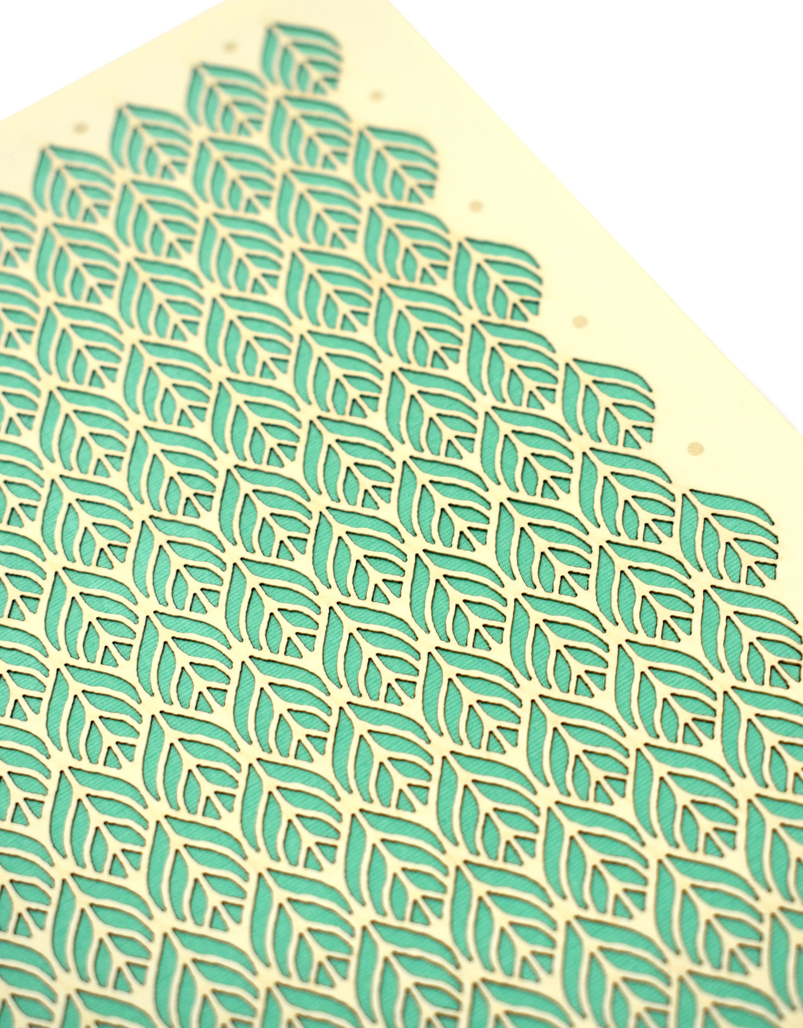 """Knot Thinkers Green """"Leaf"""" Laser Cut Greeting Card by Knot Thinkers"""