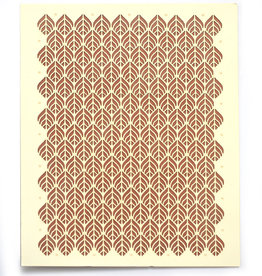"Knot Thinkers Tan ""Leaf"" Laser Cut Greeting Card by Knot Thinkers"