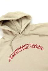 """Strawberry Kisses"" XL tan sweatshirt  by Osa North"