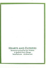Hearts & Flowers: Anthurium, Letterpress Card, Don Widmer