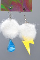 """Lightning / Raindrop "" Pair of Earrings by GERM Jewelry"