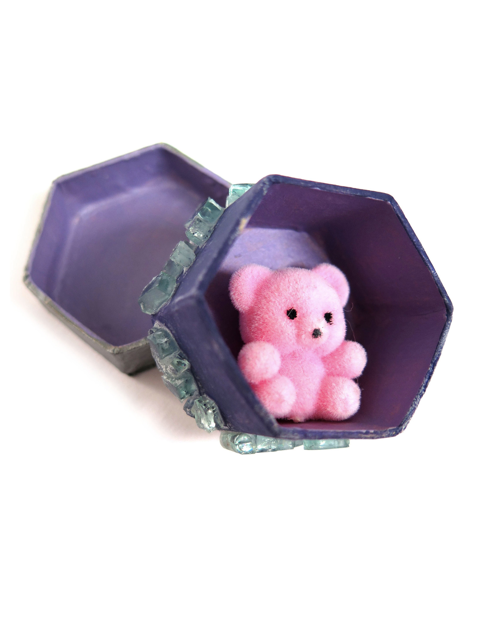 Crystal and Bear Hexagon Box by Spooky Spectacles