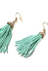 Beaded Fringe Jeweled Earrings Jason Hall