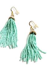 Beaded Fringe Jeweled Earrings by Jason Hall