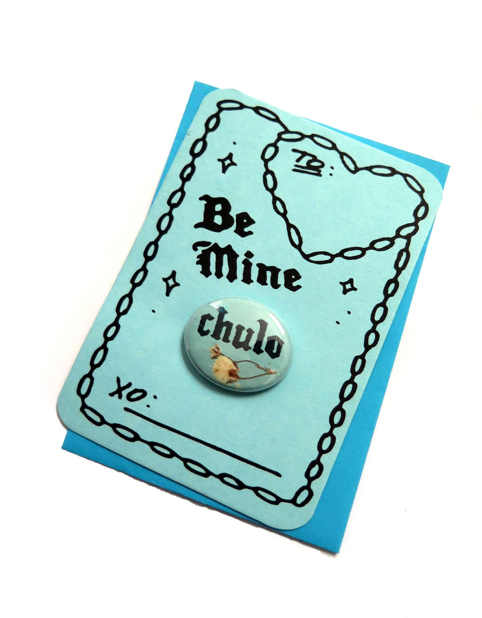 Julia Arredondo Chulo Valentine Button and Card by Julia Arredondo
