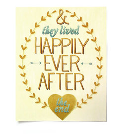 "Paper Heart Dispatch ""Happily Ever After"" Print, Digital by Jennifer Hines"