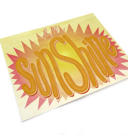 "Paper Heart Dispatch ""Sunshine"" Print, Digital by Jennifer Hines"